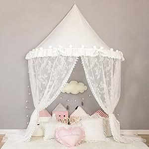 Baldachin Kinderzimmer Weiß Spitze Zelt Spiele Himmel für
