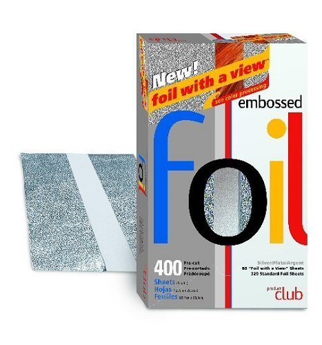 Product Club Papier d'aluminium gaufré pré-coupé 127 mm X 203 mm Argent 400 feuilles