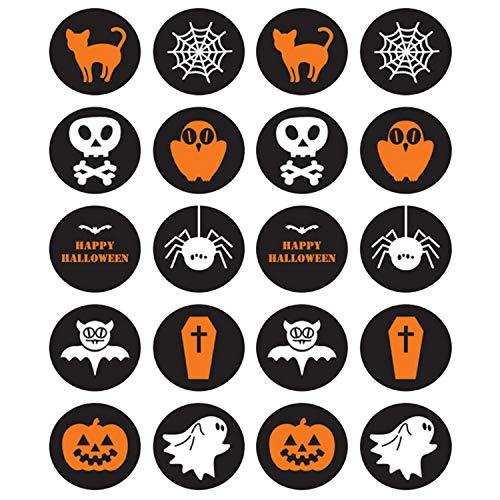 150 stücke Süßes oder Saures Goodie Bag Seal Klebeetikett Aufkleber für Halloween Party Favors ()