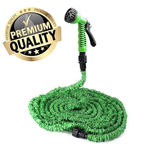 Flexibler Premium **Magic** Cudi Gartenschlauch Set ca. 23m ~3/4' + 1/2' Flexi Wasserschlauch~dehnbar~ inkl. Sprühpistole mit 7 vers. Sprühfunktionen~100FT~