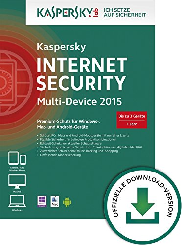 Kaspersky Internet Security 2015 Multi Device - 3 Geräte [Download]