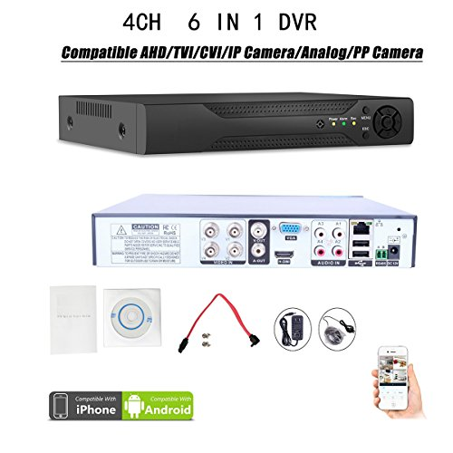 Quanmin 4CH H.264 HDMI Hybrid 6 in 1 DVR 960H Analog DVR+1080N AHD DVR+1080P ONVIF IP Camera NVR+TVI DVR+CVI DVR+PixelPlus Dvr Realtime Remote View Surveillance Security System Digital Video Recorder Wireless-digital-video-recording-system