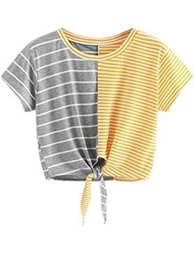 FAMILIZO Camisetas Rayas Mujer, Camisetas Mujer Manga Corta Blouse For Women Camisetas Mujer Verano Blusa Mujer...