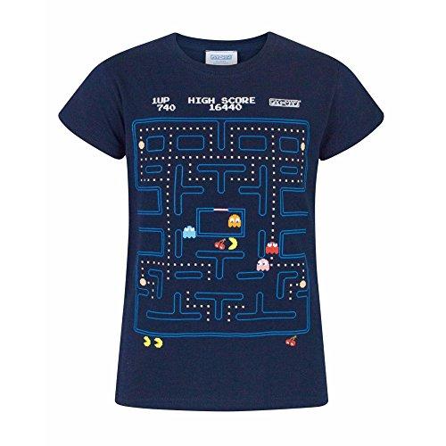 pacman-maglietta-ufficiale-a-maniche-corte-bambina-5-6-anni-blu-navy