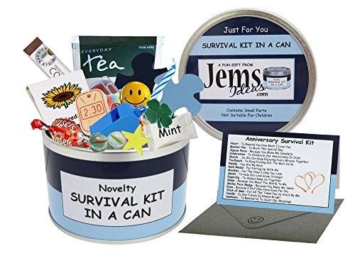 Survival Kit In A Can Caja para regalo de aniversario, divertida, para marido, novio o pareja, en diferentes colores