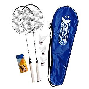 Best Sporting 200 XT Badminton Set, 2 Badminton Schläger 3 Bälle inklusive...