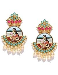 Zaveri Pearls Padmavati Inspired Ethnic & Classic Dangle Earring For Women-ZPFK7004