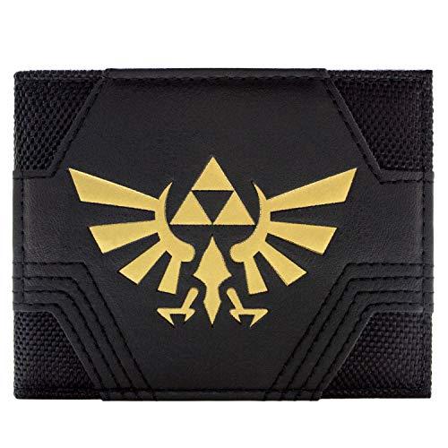 Nintendo Zelda Strukturierte Gold Triforce Schwarz Portemonnaie Geldbörse