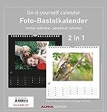 Foto-Bastelkalender - Kreativkalender - Bastelkalender / Do it yourself calendar (21 x 22) - 2 in 1: schwarz und weiss - Jahresunabhängig