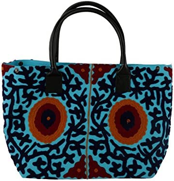 Diseñador étnico bolso de lona bordó la bolsa de hombro