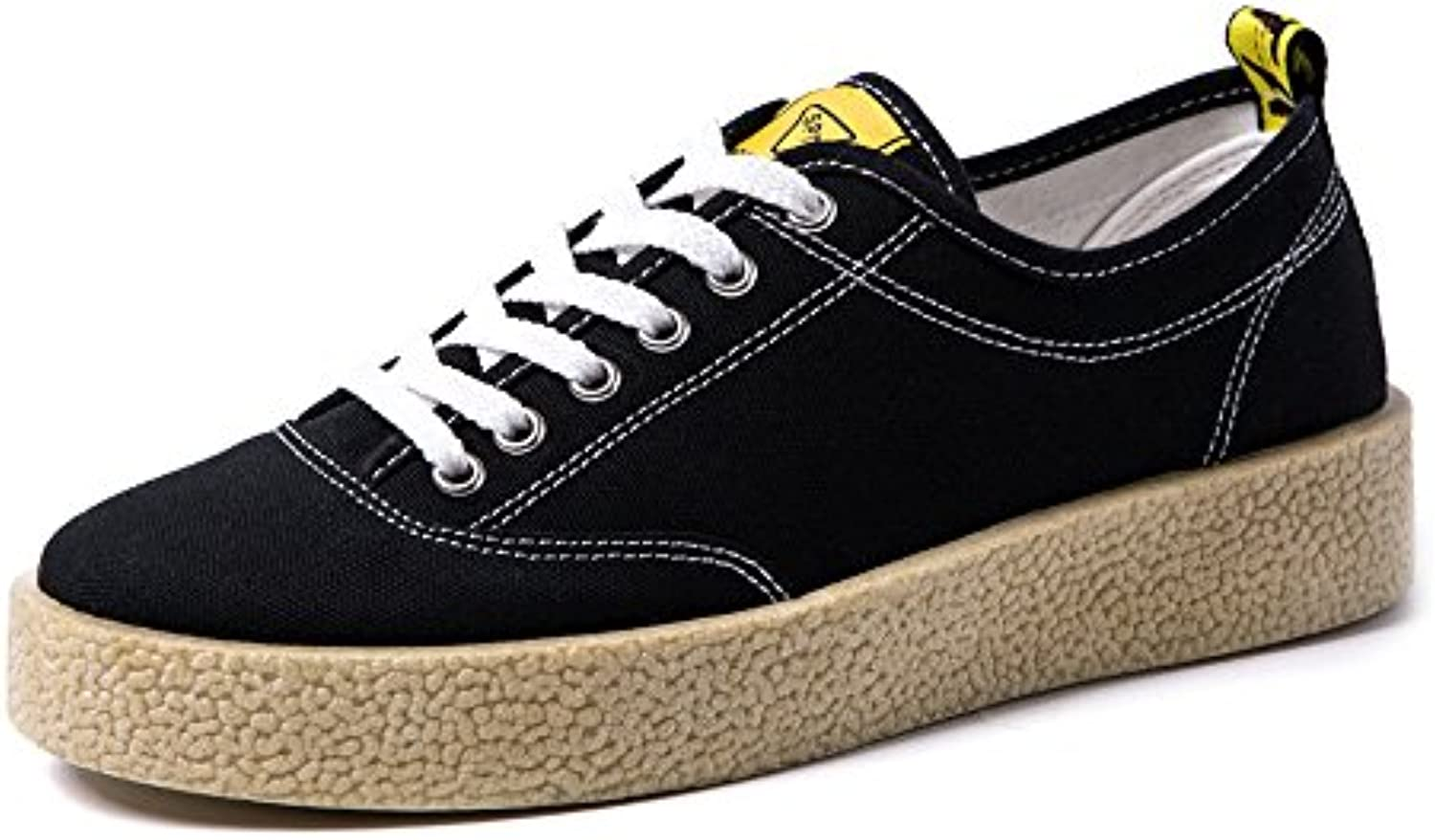 MXNET Canvas Sneakers  Casual Lace up Loafers Flache Sportschuhe Low Top Strong Outsole Schwarz Weiß Farben Freizeit
