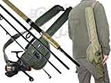 Intrepid Travel Fishing 4 9ft Piece Carbon Fishing Rod & Reel Set With Carryall Case Ideal For holiday Kit