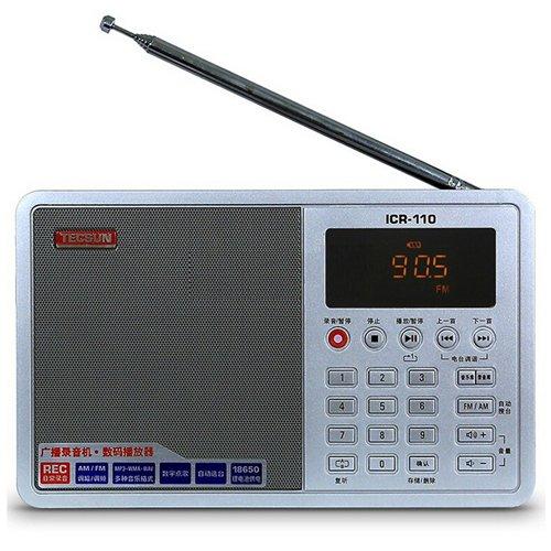 TECSUN ICR-110 UKW Stereo Radio Recorder / MP3-Player (Verbesserte Version vom ICR-100) (UKW 64-108) (Weiß)