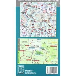 Vall d'Aran, mapa excursionista. Escala 1:40.000, Español, català, Français. Alpina Editorial. (Mapa Y Guia Excursionista)