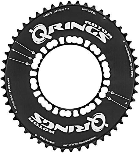 ROTOR Q-Ring Road Aero Kettenblatt 110mm 5-Arm außen schwarz Ausführung 53 Zähne 2019 Kettenblätter