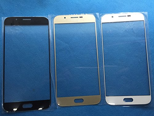 Front replacement touch glass lens for Samsung Galaxy A8 White