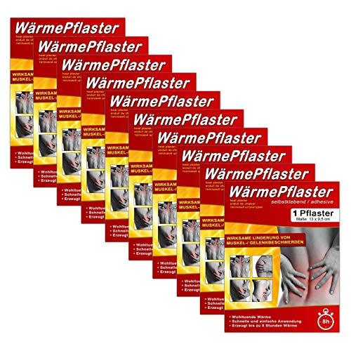 10er Set Wärmepflaster | Wärmepad Rücken Nacken | Wärmekissen Verspannung | Wärme Pflaster Wärmetherapie | Schmerzpflaster Regelschmerzen