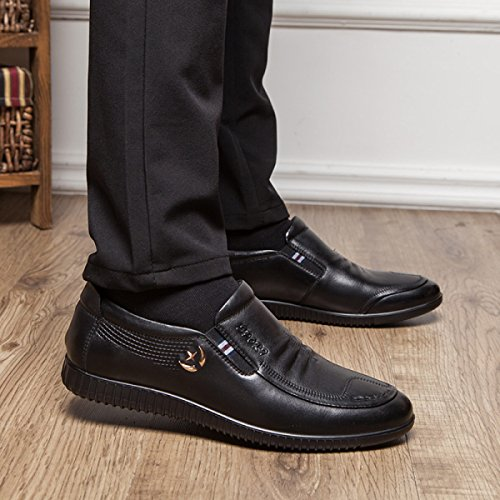 Scarpe Singole Uomini Set Di Piedi Inghilterra Più Scarpe Di Velluto Pelle Basso Per Aiutare Affari E Tempo Libero Scarpe Da Uomo Scarpe Di Cotone BlackThick