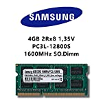 Samsung 4GB (1x 4GB) DDR3 1600MHz (PC3L 12800S) SO Dimm Low Voltage Notebook Laptop Arbeitsspeicher RAM Memory