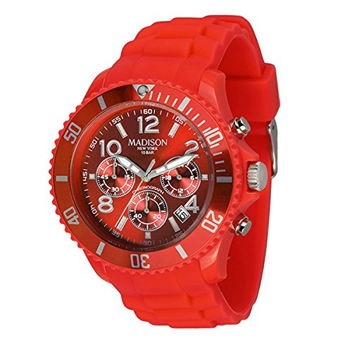 Madison - Uhr Candy Chonos, Farbe coral red