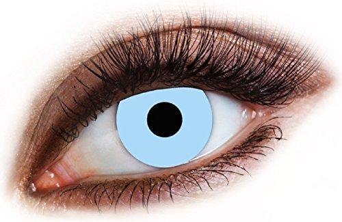 Fancy Me Erwachsene Herren Damen EIS Blau Frosty Eiskönigin Augen Halloween Karneval Kosmetikum farbiges Kostüm Schutzbrille Zubehör