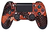 Playstation 4 Dualshock Controller Red Snake inklusive Paddles Scuf