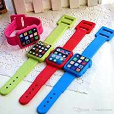 Imported Stuff Cutest New Arrival Wrist Watch Eraser – B'day Return Gift Party Idea For Kids Birthday (06 Pcs./lot)