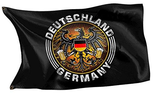 Original RAHMENLOS® Design-Flagge: Deutschland-Fahne Bieradler