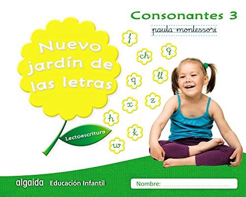 Nuevo jardín de las letras consonantes 3 pauta: lectoescritura pauta (educación infantil algaida lectoescritura) - 9