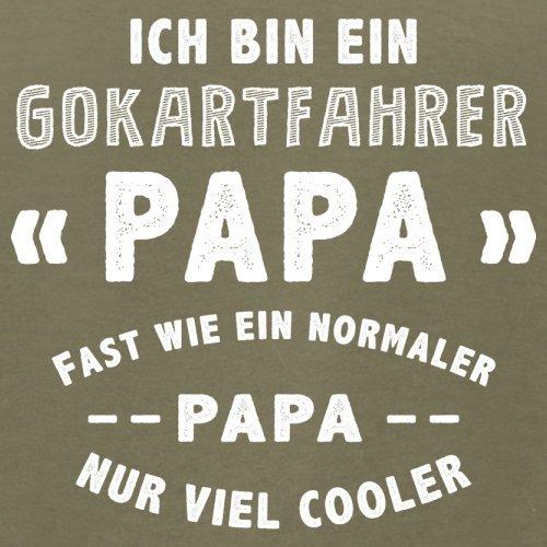 Ich bin ein Gokartfahrer Papa - Herren T-Shirt - 13 Farben Khaki