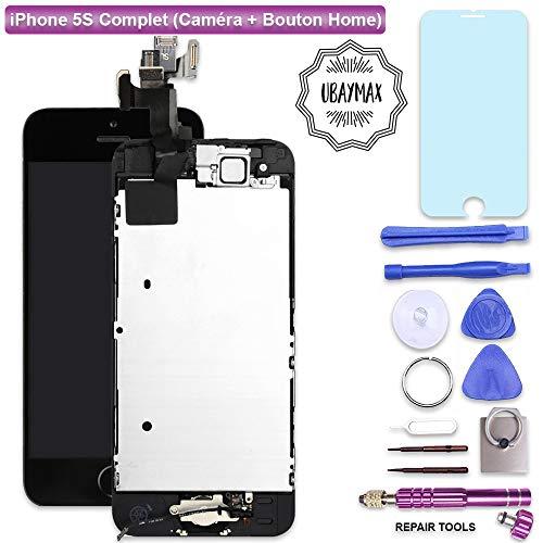 Touchscreen Digitizer - Glasobjektiv mit Kamera und Hauptknopf Reparatur-Wiedereinbau für iPhone 5C Weiß mit Werkzeug ()