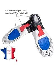 ❤ KWIM'S France ❤ SEMELLE GEL avec coussins integrés - SEMELLE CHAUSSURE - Sport Amorti les chocs et soulage les pines calcanennes pour un confort optimal