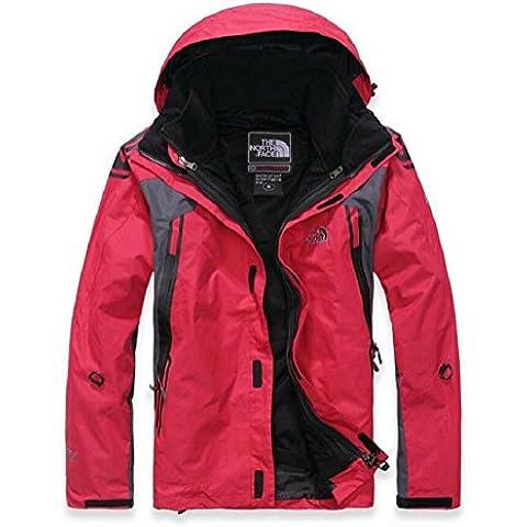YYH Schoffel hombres chaquetas deporte alpinismo caliente juego de esquí de dos piezas de aire rojo , l