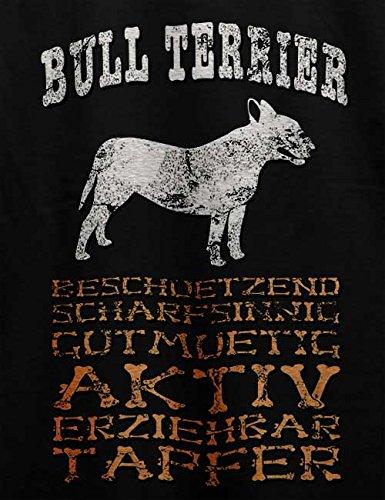Hund Bull Terrier Herren T-Shirt Schwarz