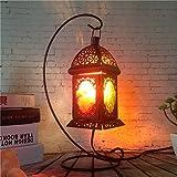 Retro Lampen Schlafzimmer Bett lampen salzkristall Lampe kreative Energie sparen mini Licht Dimmbar,01 Dekoration Dimmerschalter