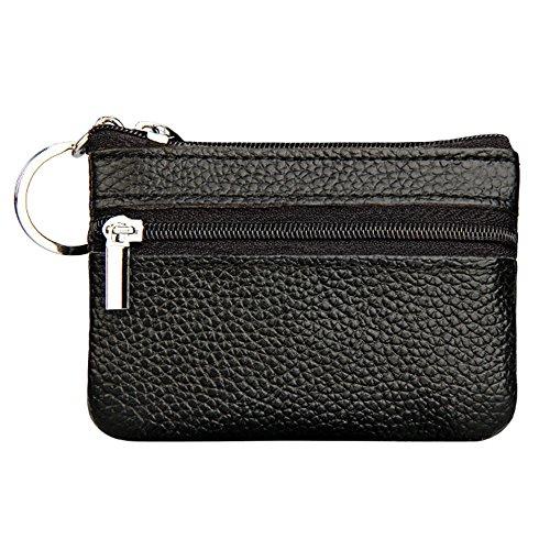 Japace® portamonete unisex adulto, moda mini portafoglio donna nero