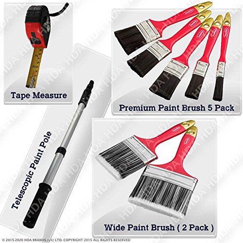 9-pieces-diy-paint-set-7-paint-brush-1-tape-measure-1-telescopic-paint-pole
