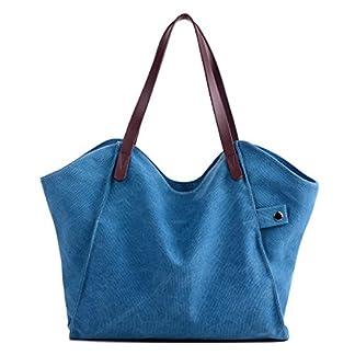 LOSMILE Mujer Bolsos de mano lona bolsos de hombro Bolsos totes Bolsos bandolera Shoppers Bolsa de playa.