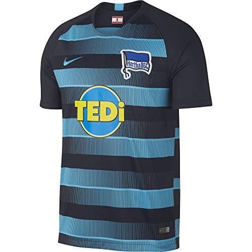 Nike Herren Hertha BSC Breathe Stadium Away T-Shirt Dark Obsidian/Chlorine Blue, 2XL