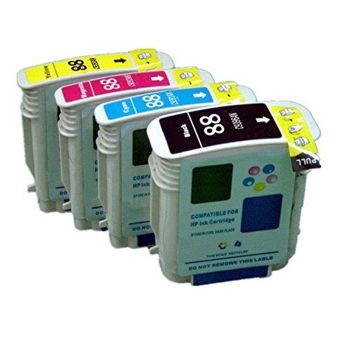Preisvergleich Produktbild No-Name Ersatz-Tintenpatronen für HP 88X L 88XL für HP88Für HP88X L Tintenpatronen hohe Kapazität kompatibel mit Officejet Pro K550K550DTN K550DTWN K5400DN K8600L7580L7590Inkjet Drucker