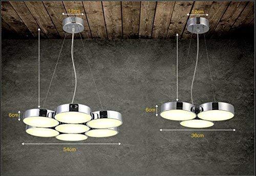 ZHYZN Runder Anhänger, 7 Residenz Head Office Hotel Lichter Beleuchtung Schreibtisch Anhänger Patch Zwei Farben Anhänger Vogue Shop.Z,54 * 120 cm
