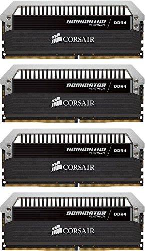 Corsair Dominator Platinum Kit di Memoria per Desktop a Elevate Prestazioni, DDR4 16GB (4x4GB), 3200 MHz C16 XMP 2.0