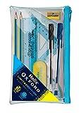 Купить Oxford 930718 Helix Clash Filled Pencil Case - Blue