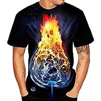 Herren Kurzarm T-Shirt   Rundhals Shirt 3D Schädel Pullover Kurzarm Drucken  Sweatshirt Klassisches Persönlichkeit 06ea90b3f8