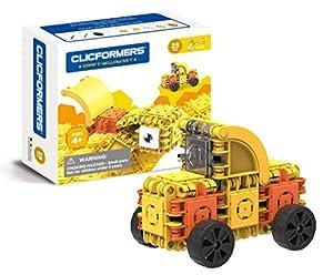 Clicformers 807002 Craft - Baldosas de Juguete apilables, 25 Unidades, Color Amarillo