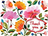 KIM PARKER - FLORAL THANK YOU GLITZ NOTECARDS