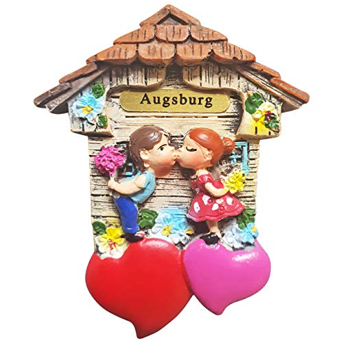 Ciffre Magnet Herz Polyresin Kühlschrank Kuss 3D Paar - Augsburg