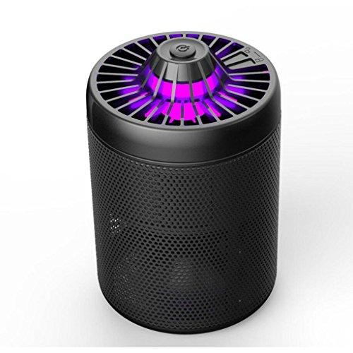 HHRONG Elektronischer Moskito-Mörder-Wanzen-Zapper Nicht-Chemikalie USB angetriebener Insekt-Fänger LED Photokatalysator Nicht-Strahlende Moskito-Falle mit UVlicht-Sauggebläse für Innen- und Outdoo