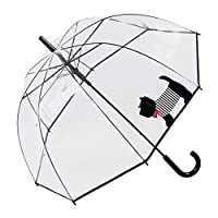 Susino Scottie Dog Dome Umbrella Stick, 85 cm, Black & Red