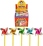 6x Mini Foil Sand Castle Windmills - 7cm